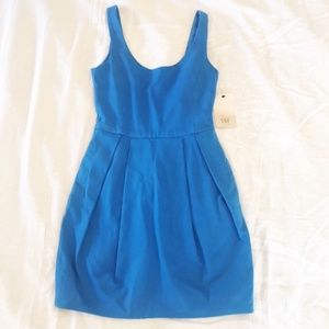 NWT Zara Blue Mini Dress with Scoop Back XS